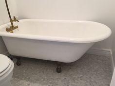 Hexagon Carrara marble bathroom