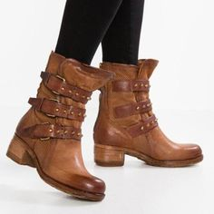Women Vintage Booties Casual Comfort Plus Size Shoes,Mollyca fashionsent Boots newchic Noordstrom booties. Flat Heel Boots, Heeled Boots, Bootie Boots, Shoe Boots, Women's Shoes, Fall Shoes, Pink Shoes, Over Boots, Comfortable Boots