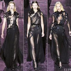 Is the Gothic Trend back ? Seems to be at Gucci's with a little touch of romance with these flowers... I'd like to wear that a my BFF wedding  !  FYI : Fall 2012