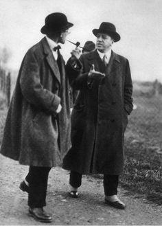 Mies van der Rohe with Le Corbusier, Weissenhof Siedlung, Stuttgart.