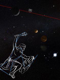 #SkyViewApp Orion, Moon, Mercury, Venus and Sun