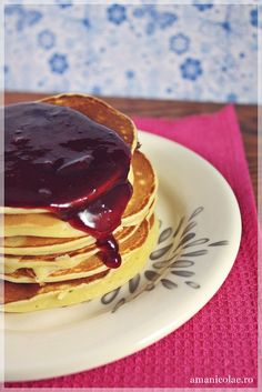 Pancakes, Beverages, Goodies, Sweets, Baking, Breakfast, Food, Bebe, Sweet Like Candy