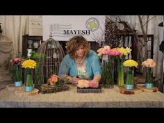 The Art of Flowers March 2012 - Mandy Majerik creates beautiful bird cage floral designs perfect for weddings. You will see David Austin Juliet and Miranda garden roses used in a pave design along with daffoldils , Green Trick dianthus, jasmine vine, and freesia.