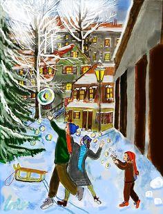 in den Weihnachtsferien