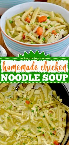 An easy meal for the family! You'll always want to keep the ingredients of this chicken dinner recipe for when you crave from scratch comfort food. Rich and delicious, this Homemade Chicken Noodle Soup is the BEST! Slow Cooker Broccoli, Slow Cooker Soup, Slow Cooker Recipes, Chicken Noodle Recipes, Chicken Noodle Soup, Chili Recipes, Soup Recipes, Easy Delicious Recipes, Simple Recipes