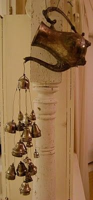 An awesome windchime for a kitchen!
