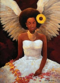 Pics For > African American Angel Art