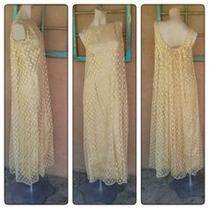 1960s Gold Lame Dress Metallic 60s Goddess Gown US 10 B36 W30 2015335 - pinned by pin4etsy.com
