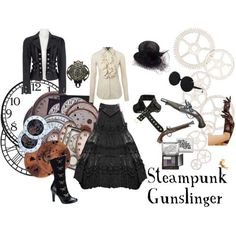 Steampunk Gunslinger for Halloween #costume #dressup #halloween #steampunk