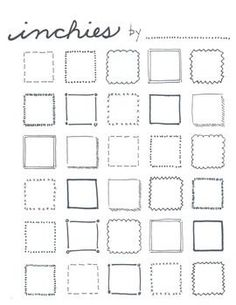 "This is a great sheet to have in the student portfolios for early finishers, sub days, independent work. I like to use a theme with mine like ""about me"" or ""dream collection."" Remind the students that inchies are different from thumbnail sketches because they are fully developed, miniature artworks.Works great with the free download ""Art Starters idea sheets"""