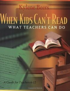 When Kids Can't Read: What Teachers Can Do. An excellent book for teaching literacy. Also, an enjoyable read. Who knew? Reading Resources, Reading Strategies, Teaching Reading, Reading Comprehension, Teaching Tips, Teacher Resources, Guided Reading, Teaching Literature, Comprehension Strategies