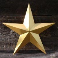 "Heavy Duty Metal Star 53"" Painted Solid Metallic Gold. These Metal Stars Are a Great Addition to Your Home Decor. You Will Not Be Disappointed with the Quality and Workmanship on These Barn Stars. They Are Handcrafted Out of 22 Gauge Galvanized Steel and Will Not Rust. Add a Barnstar to Your Home Decor Today. Assembly Required. by Kenzie's Stars and Gifts. $86.95. Heavy Duty Metal Star 53"" Painted Solid Metallic Gold.  These metal stars are a great addition to your home..."