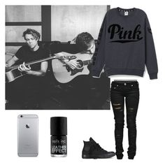 """""""Untitled #475"""" by lexi54525sos ❤ liked on Polyvore featuring Calvin Klein Underwear, Victoria's Secret PINK, Denim of Virtue, Converse and Nails Inc."""