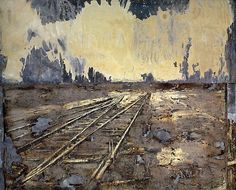 Anselm Kiefer, Lot's Frau (1990, acrylic, emulsion, and ash on canvas, with salt and lead, Cleveland Museum of Art, Ohio)