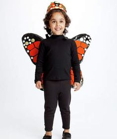 Monarch Butterfly | Dress up your kids in fun costumes you make with everyday household items.