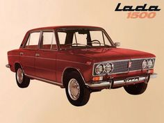 Advertising posters of Soviet cars VAZ (Lada) - 16