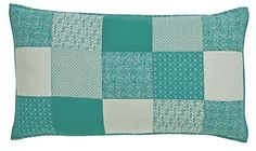 Sea Glass Quilted Luxury Sham 21x37""
