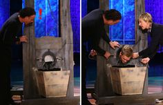 Neil Patrick Harris tricks viewers into thinking he accidentally cut his head off during a magic trick.