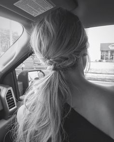 This may be taken in the car (I ran out of time) but I had to share a pic of my tousled pony tail on #hairstyleappreciationday ! I'm wedding bound-have lovely night! #saturday #hair #hairstyle #instahair
