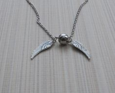 Snitch Necklace, Harry Potter Jewelry, Antique Pendant, Gift