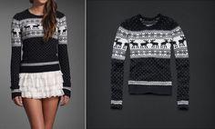 Granatowy sweter Abercrombie