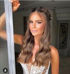 Hair Inspo, Hair Inspiration, Cute Hairstyles, Wedding Hairstyles, Blonde Hair Looks, Wedding Hair Down, How To Make Hair, Prom Hair, Hair Trends