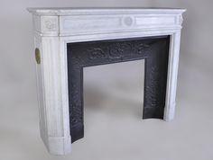Matériaux & Architecture Cheminées - Cheminée en marbre de Carrare, fin XIXe