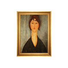 Modigliani Portrait of a Young Woman Paintings (44950 RSD) ❤ liked on Polyvore featuring home, home decor, wall art, face painting, european home decor, canvas home decor, parisian home decor and paris painting