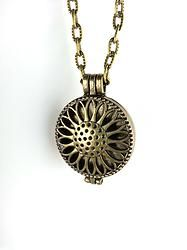Sunflower Essential Oil Diffuser Necklace