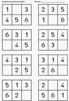 Das Journal of Chrys: Sudoku im Kindergarten Das Journal of Chrys: S… Montessori Math, Preschool Math, Kindergarten Worksheets, Worksheets For Kids, Math For Kids, Puzzles For Kids, Math Resources, Preschool Activities, Teaching Kids