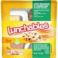 Easy School Lunches, Ham Breakfast, American Chocolate, Oscar Mayer, Lunch Snacks, Fruit Snacks, Lunch To Go, Bologna, Chocolate Chip Cookies