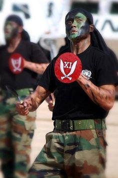 Indian Army Gurkha soldiers perform Khukuri dance during Indo-U.S. Exercise Yudh Abhyas 2013.