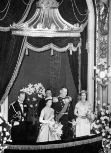 Queen Elizabeth II & Prince Philip, Duke of Edinburgh with King Frederik and Queen Ingrid of Denmark, Royal Ballet in the Royal Theatre, Copenhagen. Royal Ballet, Prince Philip, Queen Elizabeth Ii, The Crown, Great Britain, Edinburgh, Duke, Denmark, King