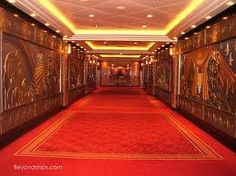 Art Deco design on walls of Queen Mary ship