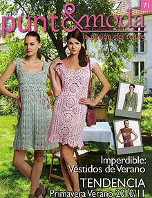 "Photo from album ""Punto and moda - - on Yandex. Knitting Magazine, Crochet Magazine, Crochet Stitches Patterns, Crochet Designs, Crochet Lace Edging, Knit Crochet, Knit Dress, Dress Skirt, Moda Crochet"