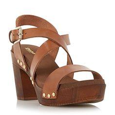 Dune Damen Sandalen mit gekreuzten Riemen und Blockabsatz Braun Größe EUR 38 - http://on-line-kaufen.de/dune/38-eu-dune-damen-sandalen-mit-gekreuzten-riemen-2