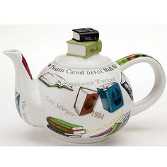 book teapot - I'm a coffee girl, but this is adorable.
