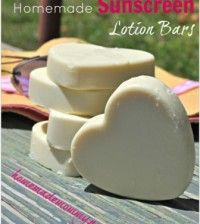 DIY Sunscreen Lotion Bars! These would work great on your Face!