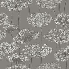 Brewster Wallcovering Wall Vision Navy Non-Woven Floral Wallpaper Wv5477