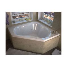 """Avano AV6060CDRX Luxury Suite 59-1/4"""" Acrylic Air / Whirlpool Bathtub (€4.180) ❤ liked on Polyvore featuring home, bed & bath, bath, bath accessories, air / whirlpool, drop-in, tub, white, acrylic bathroom accessories and acrylic bath accessories"""