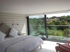 full width glass doors loft conversion NW london