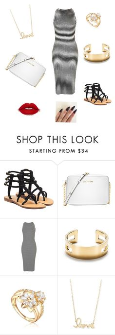 """Summer OOTD"" by oliviaonfleek on Polyvore featuring Mystique, Michael Kors, Topshop, Tiffany & Co. and Sydney Evan"