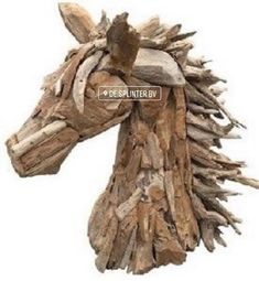 Suppliers of a spectacular life-size driftwood horse, small horse sculpture and driftwood horse heads. Driftwood Sculpture, Horse Sculpture, Driftwood Art, Animal Sculptures, Driftwood Furniture, Driftwood Projects, Log Projects, Horse Head, Horse Art