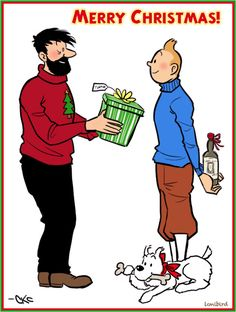 I spontaneously drew a Tintin-themed card for my brother this year, and thought I'd share it with y'all as SOMEthing Christmassy to. A Tintin Christmas Merry Christmas Eve, Christmas Cards, Haddock Tintin, Tin Tin Cartoon, Herge Tintin, Fictional Heroes, Vintage Christmas Images, Beautiful Stories, Latest Books