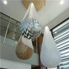 """Bok Bamboo Suspension Lamp - Based on the New Zealand Maori legend of the three baskets of knowledge. Created in a polycarbonate shroud with 3 different base/ basket options; bamboo, polycarbonate, and aluminum. Low wattage LED light source. UL listed. 32"""" W, 82.5"""" L  http://www.switchmodern.com/Suspension-Lamps/David-Trubridge-Design-BOK-Bamboo-Suspension-Lamp.asp"""
