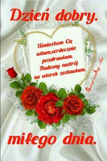 Gify i Obrazki: MILEGO WTORKU Good Morning Happy Saturday, Christmas Wreaths, Christmas Ornaments, Floral Wreath, Holiday Decor, Birthday, Trust, Videos, Google