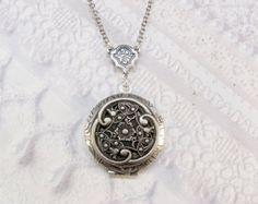 Silver Celtic Knot Locket Necklace The ORIGINAL by birdzNbeez