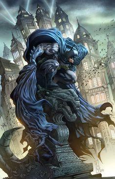 Batman Commission in Color #2 by quahkm on deviantART