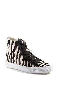 Rachel Zoe 'Barret' Zebra Print Calf Hair Sneaker (Online Only) available at #Nordstrom