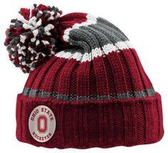 Ohio State Buckeyes Columbia Pom Beanie Ohio State Hats 3015e2e30f4